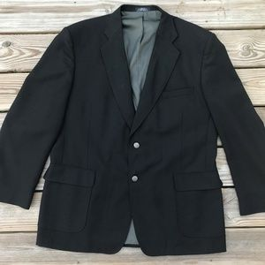 Stafford Men Blazer Black Sport Jacket Coats Two B